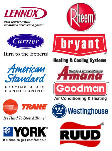 Heating and Air Conditioning Brands We Service